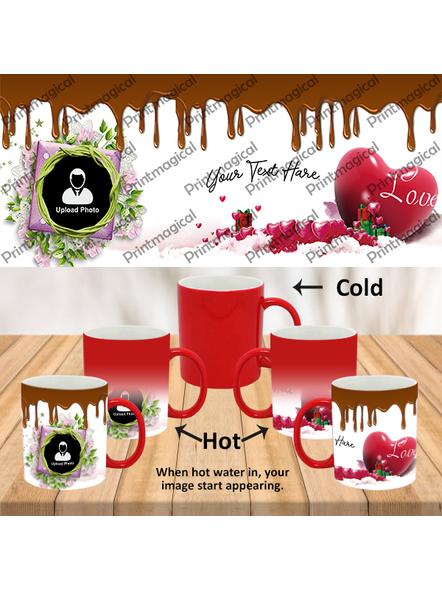 Chocolate Pudding Personalized Red Magic Mug-1