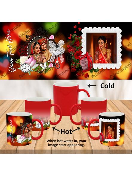 Wedding Frames Designer Personalized Red Magic Mugs-MMR0018A