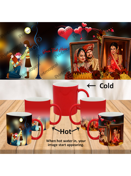 Proposing Couple Personalized Red Magic Mug-MMR0020A