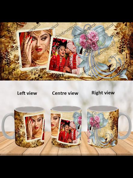 Beautiful Gold Pattern Personalized Special White Mug-WM0047A-1