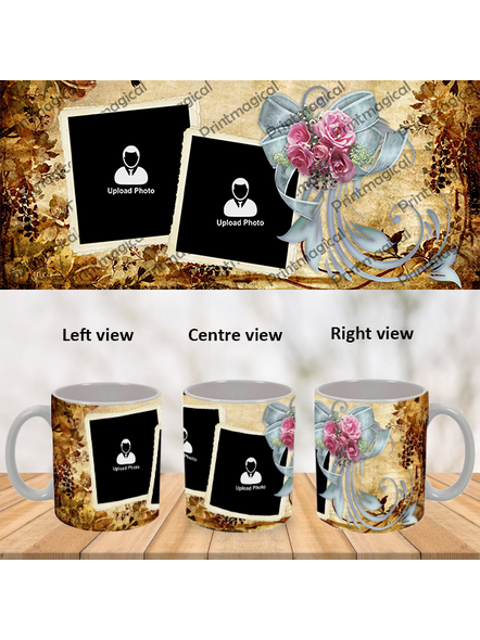 Beautiful Gold Pattern Personalized Special White Mug-1