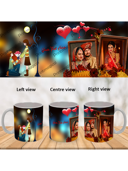 Proposing Couple Personalized Special White Mug-WM0065A-4