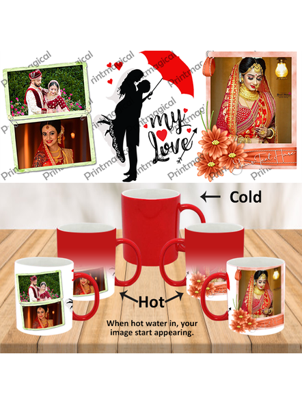 My Love Couple Love Personalized Red Magic Mug-MMR0011A-15