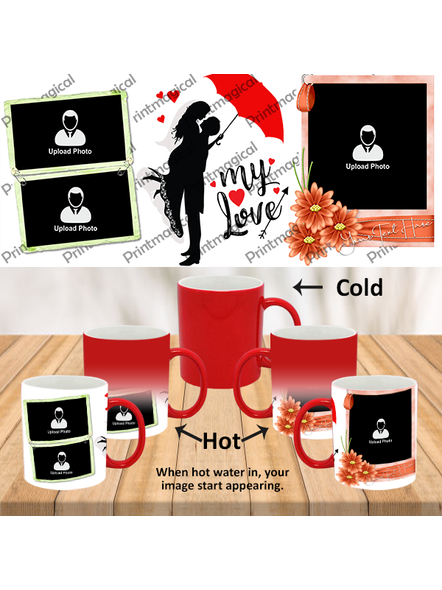 My Love Couple Love Personalized Red Magic Mug-1