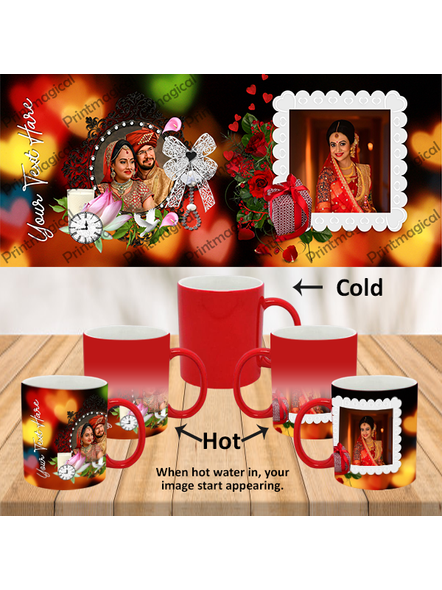 Wedding Frames Designer Personalized Red Magic Mugs-MMR0018A-18