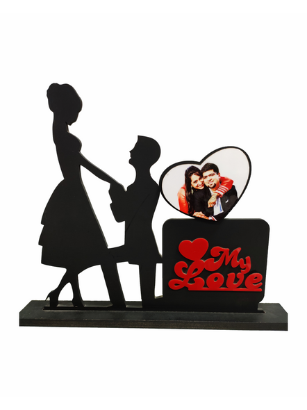 Personalized My Love 1 Photo Standing Couple Frame-Cuplfrm001-38