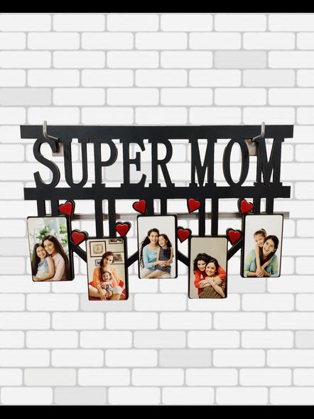 Personalized Super MOM 5 Photos Frame-2