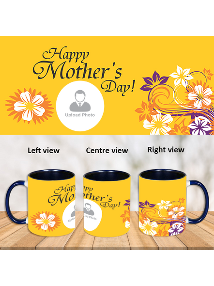 Happy Mother's Day Personalized Blue Inner Color Mug-ICBM0017A-1