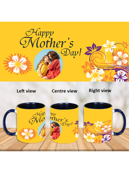 Happy Mother's Day Personalized Blue Inner Color Mug-Blue-1