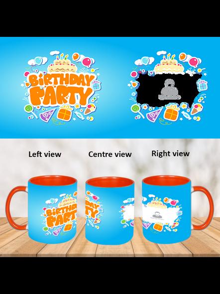Birthday Party Orange Inner Colour Mug-ICOM0001A-1
