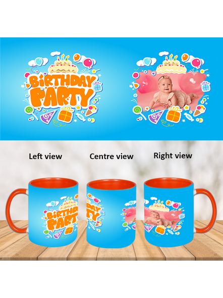 Birthday Party Orange Inner Colour Mug-Orange-1