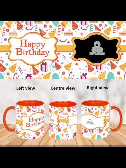 Birthday celebrations orange Inner Colour Mug-ICOM0002A-1