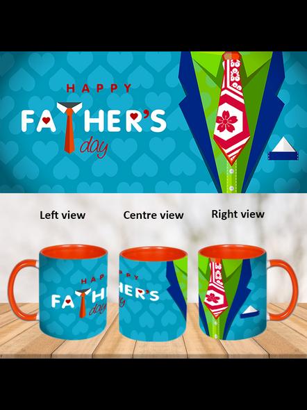 Happy Father's Day Orange Inner Colour Mug-ICOM0009A-1