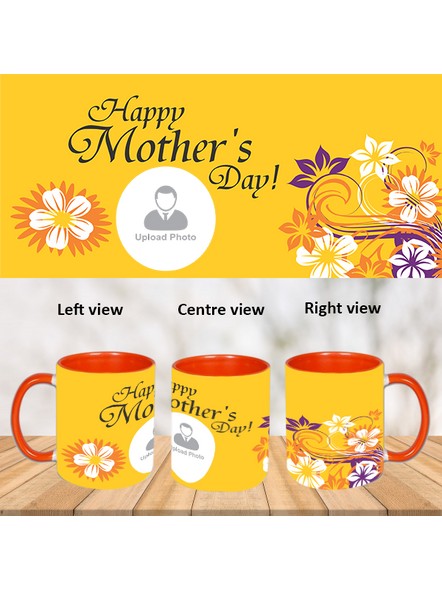 Happy Mother's day personalized Orange Inner Colour Mug-ICOM0011A-1