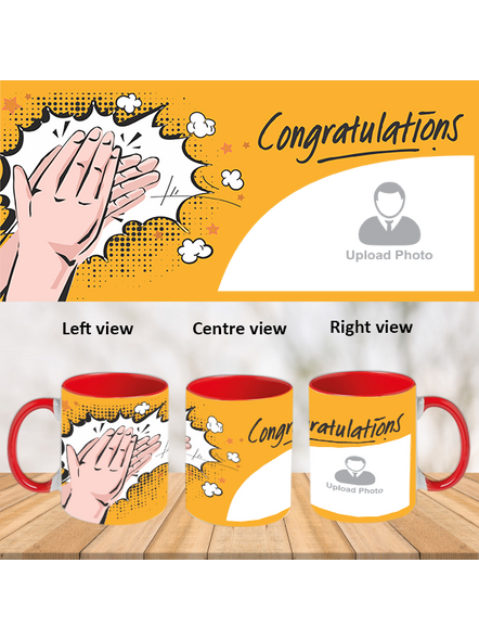 Clapping Congratulations Red Inside Color Mug-ICRM0010A-1