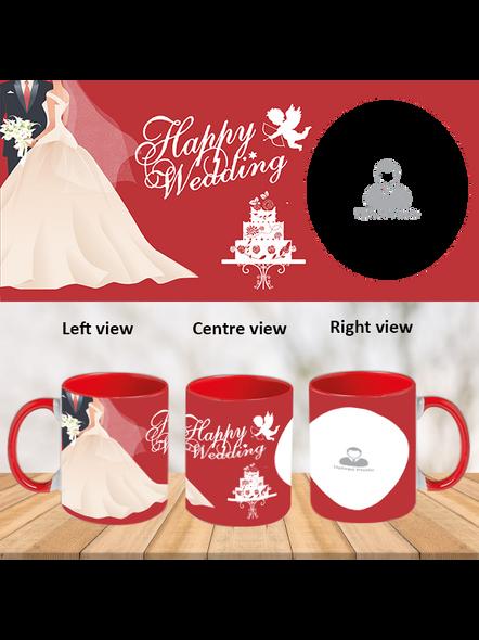 Wedding Cake Red Inner Colour Mug-ICRM0007A-1
