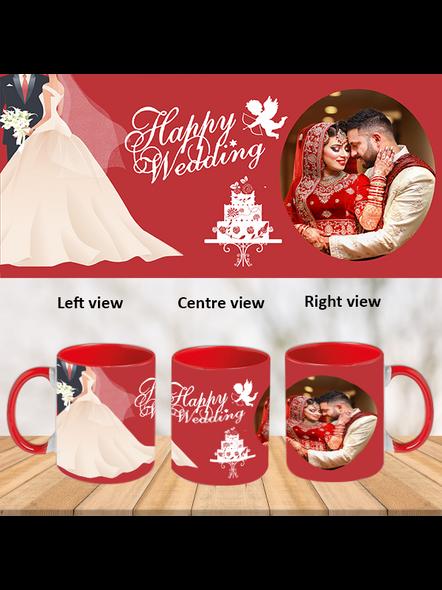 Wedding Cake Red Inner Colour Mug-Red-1
