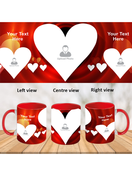 Multi Hearts Valentines day Red Inner Colour Mug-ICRM0008A-1