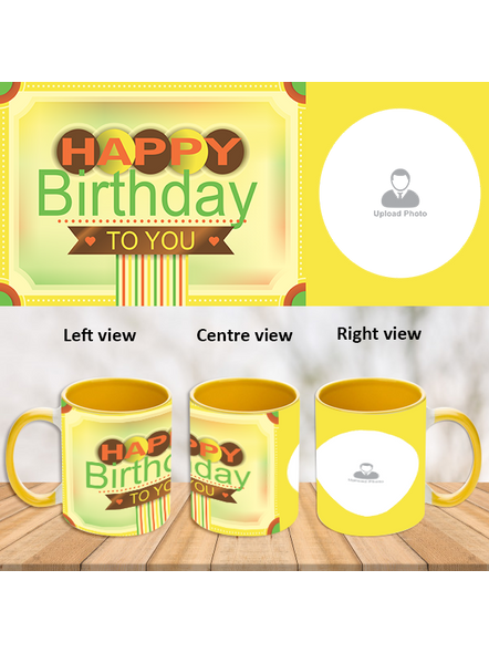 Happy Birthday To You Yellow Inner colour Mug-ICYM0002A-1