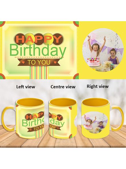 Happy Birthday To You Yellow Inner colour Mug-Yellow-1