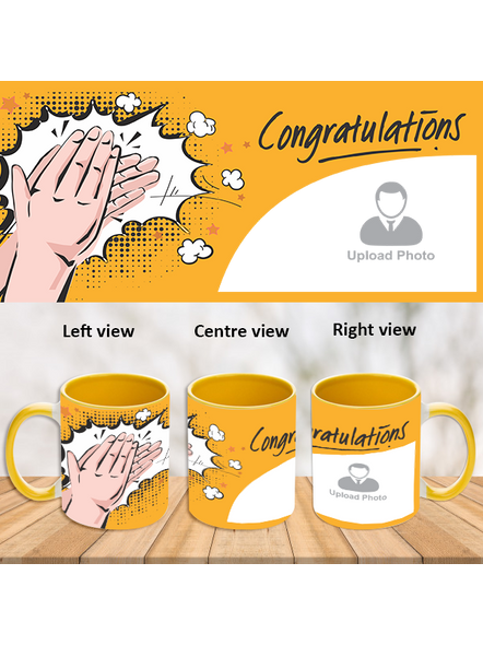 Clapping Congratulations Yellow Inner Colour Mug-ICYM0004A-1