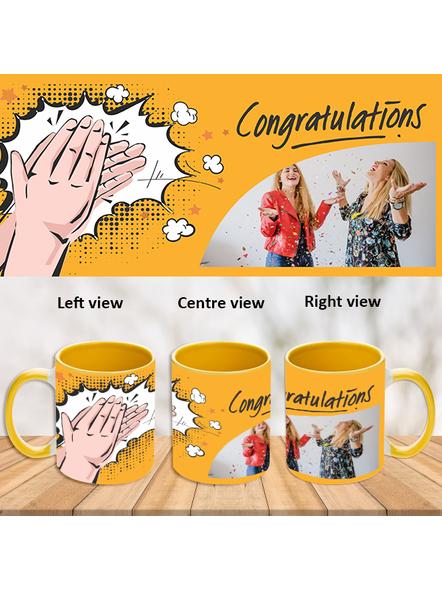 Clapping Congratulations Yellow Inner Colour Mug-Yellow-1