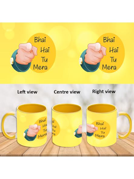 Bhai hai tu Mera Yellow Inner Colour Mug-ICYM0007A-1