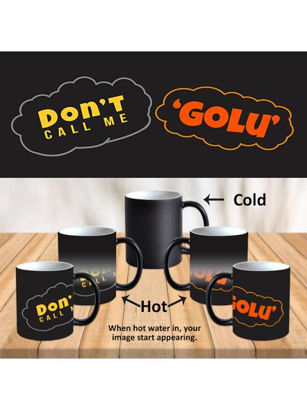 Don't Call Me Golu Quote Printed Designer Black Magic Mug-MM0011A-1