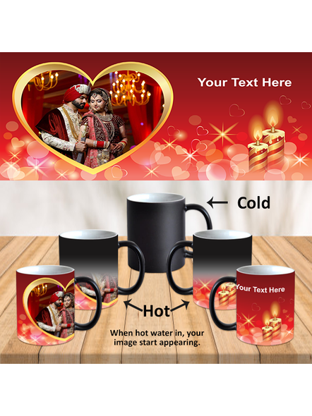 Blowing Candles Personalized Black Magical Mug-Black-1