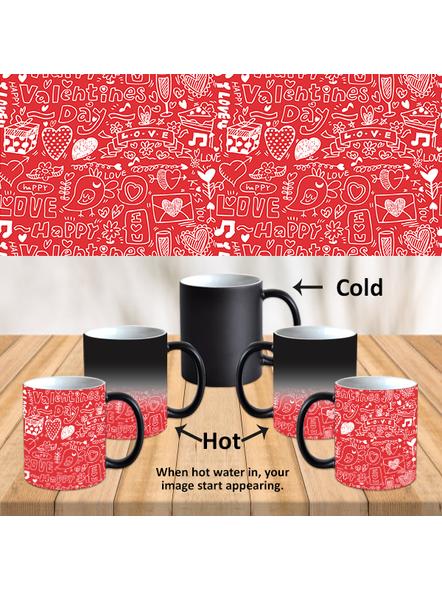 Love Valentine Typography Designer Black Magical Mug-MM0018A-1
