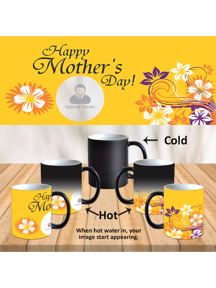 Happy Mother's Day Customized Black Magical Mug-MM0019A-1