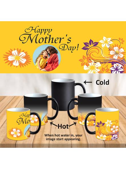 Happy Mother's Day Customized Black Magical Mug-Black-1