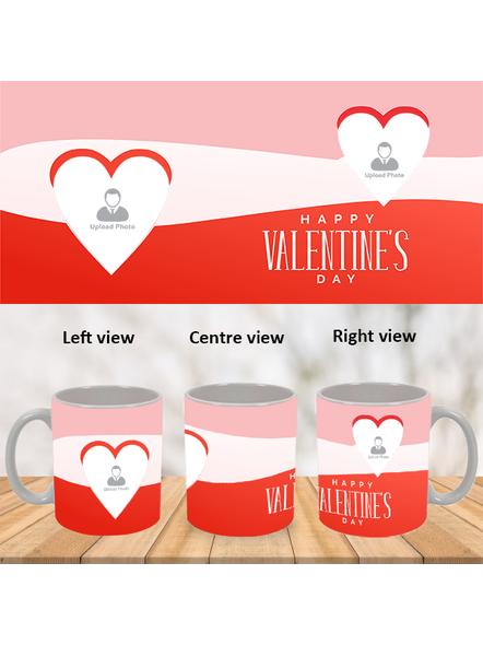 Multi Hearts Designer Personalized White Mug-WM0007A-1