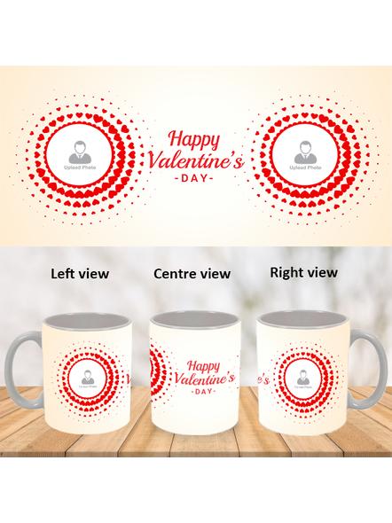 Happy Valentines Day Personalized White Mug-WM0008A-1