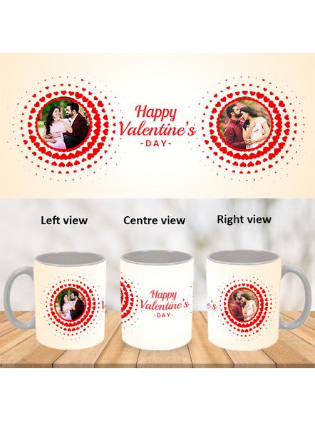 Happy Valentines Day Personalized White Mug-White-1