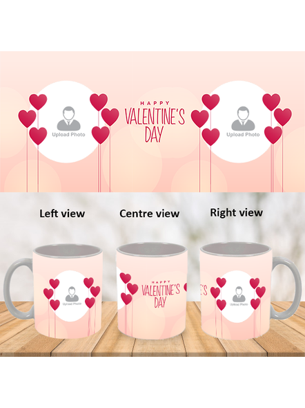 Elegent Valentines Day Personalized White Mug-WM0009A-1