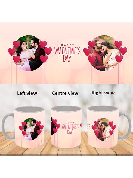 Elegent Valentines Day Personalized White Mug-White-1