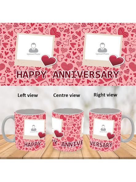 Super Love Designer Happy Anniversary White Mug-WM0014A-1