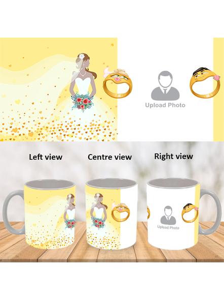 Engagement Ring Personalized White Mug-WM0020A-1