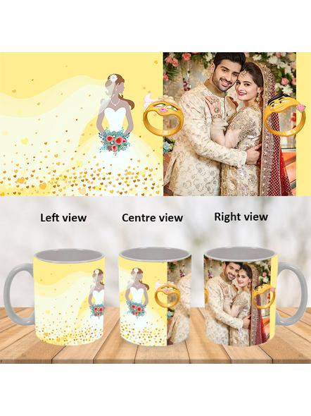 Engagement Ring Personalized White Mug-White-1