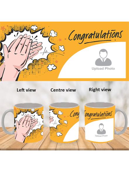 Clapping Congratulations Designer White Mug-WM0023A-1