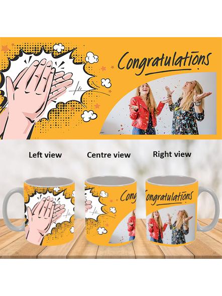 Clapping Congratulations Designer White Mug-White-1