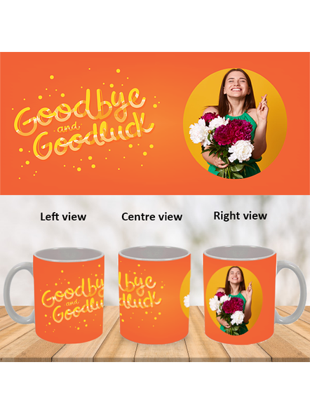 Good Bye Good Luck Personalized White Mug-White-1