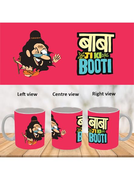Baba Ji ki Booti Designer White Mug-WM0032A-1