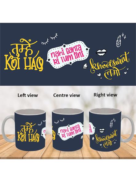Tum Khoobsurat Ho Designer White Mug-WM0033A-1