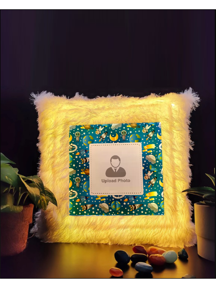 Personalized Space Toys Printed LED Cushion-LEDCUSWOR002A