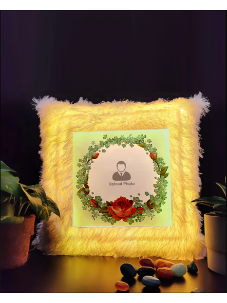 Personalised Flower Designer Special LED Cushion-LEDCUSWOR003A