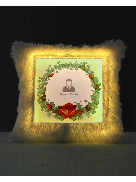 Personalised Flower Designer Special LED Cushion-1