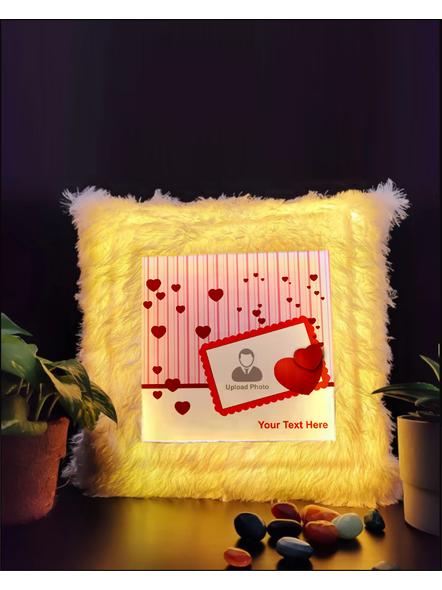 Personalized Loving Hearts LED Cushion-LEDCUSWOR005A