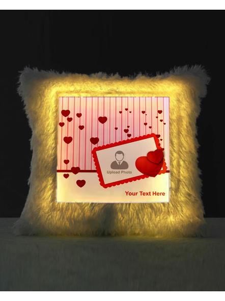Personalized Loving Hearts LED Cushion-1